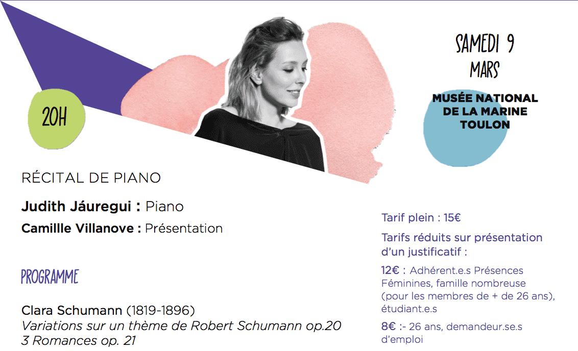 """Judith Jáuregui à Toulon dans le cadre du Festival """"Présences Féminines"""""""